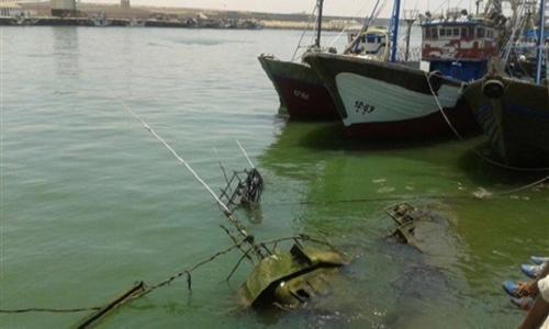 العثور على مركب الصيد الغارق بخليج السويس