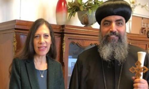 قنصل مصر بباريس تتلقى تهنئة من أسقف الكنائس الأرثوذكسية بمناسبة شهر رمضان