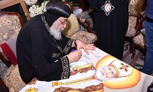 بالصور   البابا تواضروس الثاني يعتمد الصورة الجديدة للقديس القمص يسى ميخائيل
