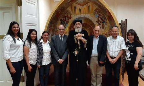 البابا تواضروس يزور معهد الدراسات القبطية