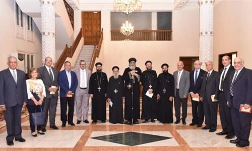 البابا تواضروس يستقبل كهنة ومجلس كنيسة جوارجيوس والأنبا أنطونيوس بمصر الجديدة