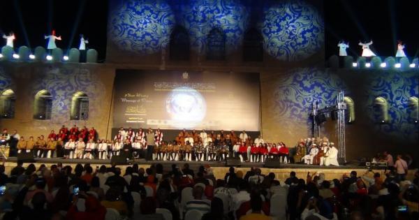 بحضور وزيرة الثقافة حفل افتتاح مهرجان سماع الدولي ملتقي الترانيم والإنشاد الديني