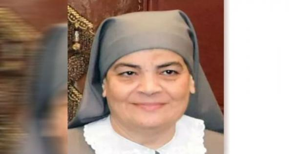 """نياحة تاسونى""""مكاريا اقلاديوس"""" مديرة مدرسة لغات في بني سويف متأثرة بكورونا"""