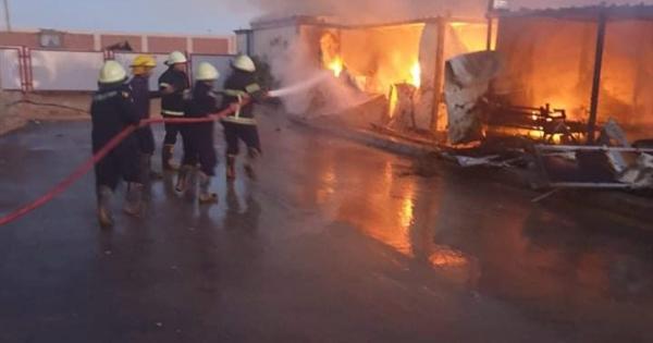 حريق أكل الأخضر واليابس.. 180 دقيقة لإخماد نيران وصلت عنان السماء بجهاز مدينة حدائق اكتوبر