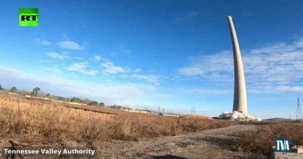 بالفيديو.. تفجير برج في ألاباما الأمريكية