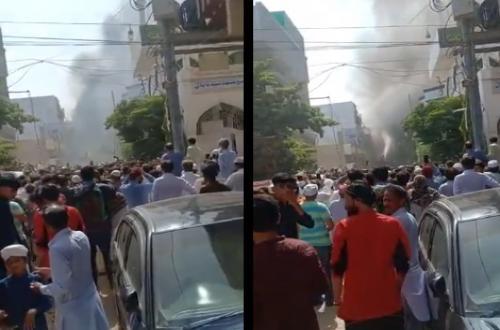 فيديو | اللقطات الأولى لتحطم طائرة ركاب باكستانية من طراز إيرباص ومصرع 107 علي متنها