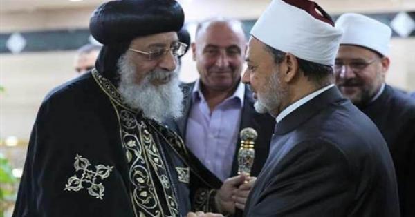 قداسة البابا يهنئ الإمام الأكبر بعيد الأضحي المبارك