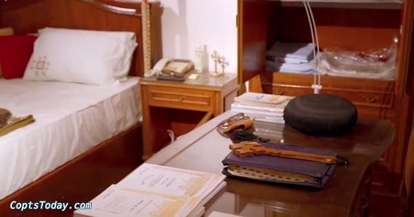 بالفيديو.. ضم غرفة نوم البابا شنودة ومكتبه للمكتبة البابوية بوادي النطرون