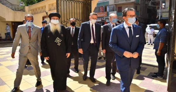 الانبا بولا يتسقبل اعضاء وسفراء دول الاتحاد الاوربى وزيارة لمزار شهداء طنطا