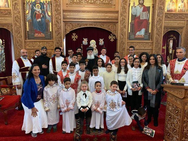 كنيسة الانبا ارسانيوس معلم اولاد الملوك بهولندا تحتفل بعيد تاسيسها السابع  - صور