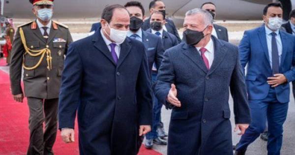 التفاصيل الكاملة للقاء الرئيس السيسى والملك عبدالله فى الأردن