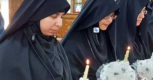 رسامة 6 راهبات جدد بدير القديسة دميانة فى البلينا