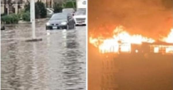 هنا أوروبا .. 3 مشاهد للطقس السيء في دمياط لم يعتادها المصريون (صور)