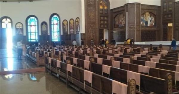 استعدادات كاتدرائية ميلاد المسيح لإستقبال سيامة الأساقفة الجدد - صور