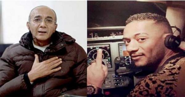 """من العناية المركزة.. الطيار المفصول يتابع حكمه ضد محمد رمضان وحصوله علي 6 مليون تعويض : """"فرح وهز دماغه"""""""