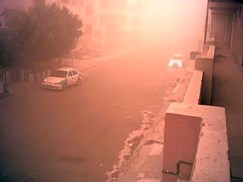 صور .. مدن مطروح تتعرض لعاصفة ترابية