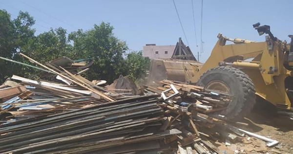 الحكومة تواصل إزالة التعديات والمباني المخالفة على أملاك الدولة ببور سعيد