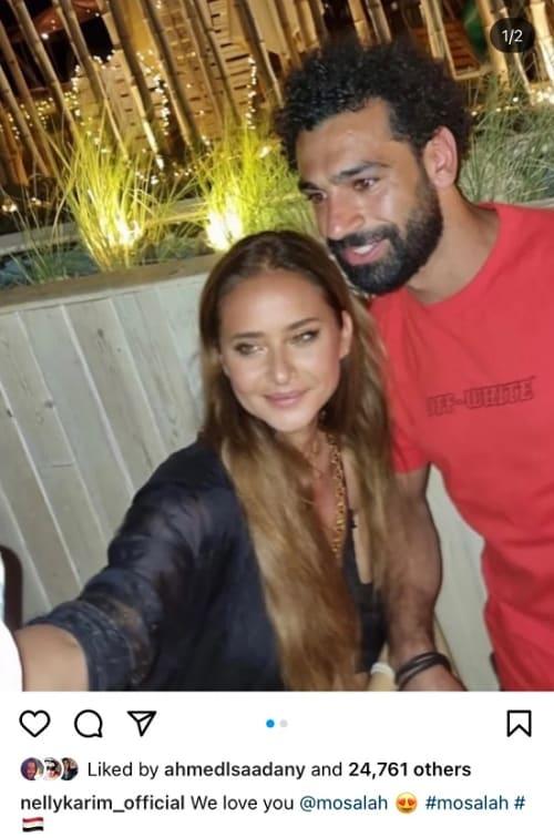 نيللى كريم برفقة محمد صلاح في أحدث ظهور لها .. شاهد